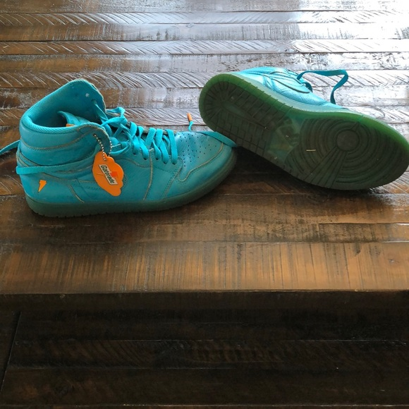 promo code 5d928 8ed8d Nike Air Force Ones. Gatorade style Blue